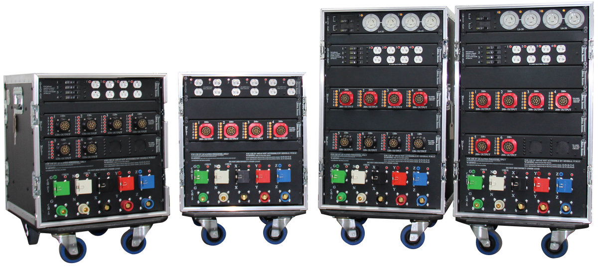 entertainment power systems portable power distribution racks