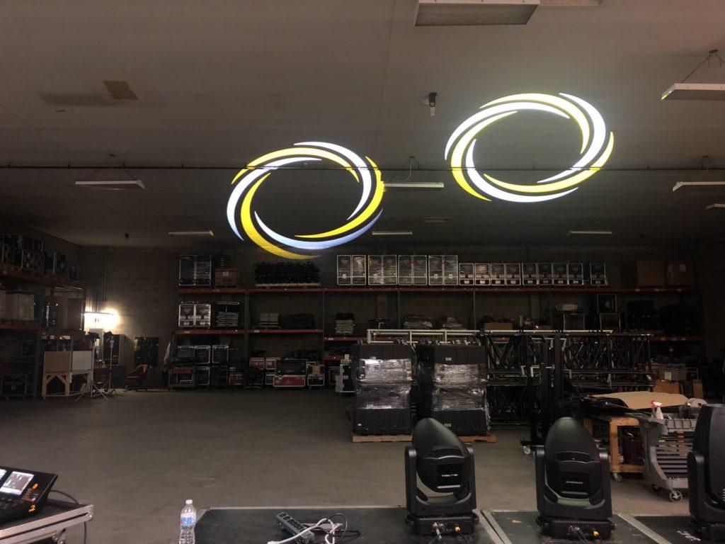James Suit demoing Ayrton Fixtures in the Creative Stage Lighting warehouse.