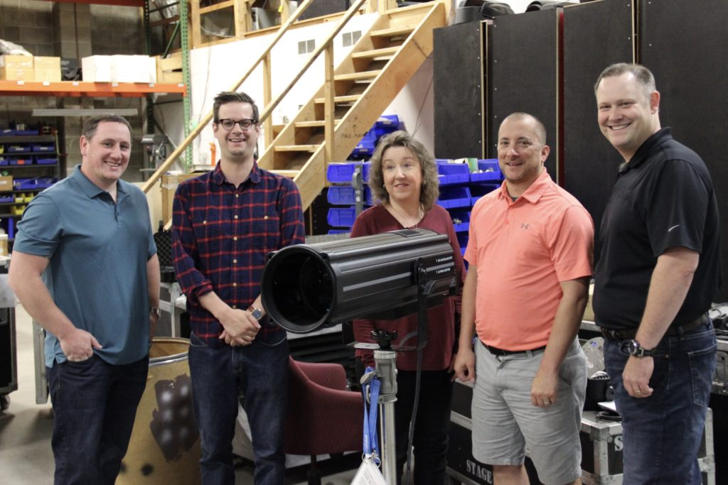 The CSL Sales Team with Tom Casazza of Altman Lighting and the AFS500
