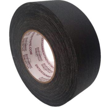 Entertaiment Industry Tape Black Gaffer Tape.