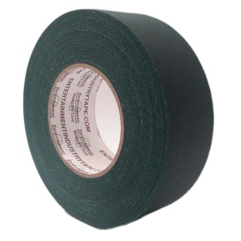Entertainment Industry Tape Dark Green Gaffer Tape.