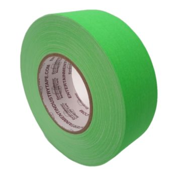 Entertainment Industry Tape Fluorescent Green Gaffer Tape.