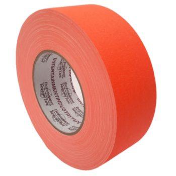Entertainment Industry Tape Fluorescent Orange Gaffer Tape.