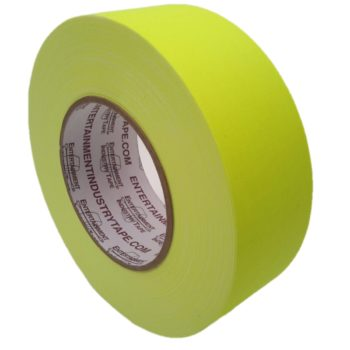 Entertainment Industry Tape Fluorescent Yellow Gaffer Tape.