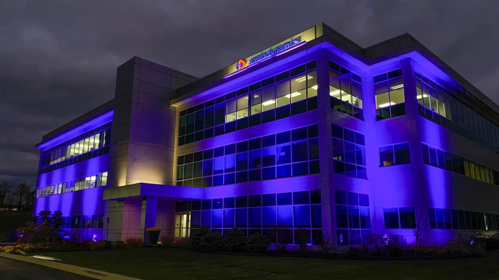 SGM P-5s light up AngioDynamics for Pancreatic Cancer Awareness