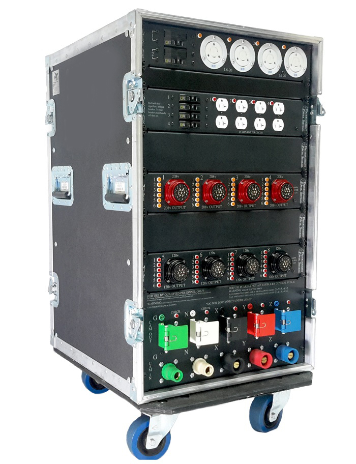 EPS 2-000-900-0275 portable power distribution rack.