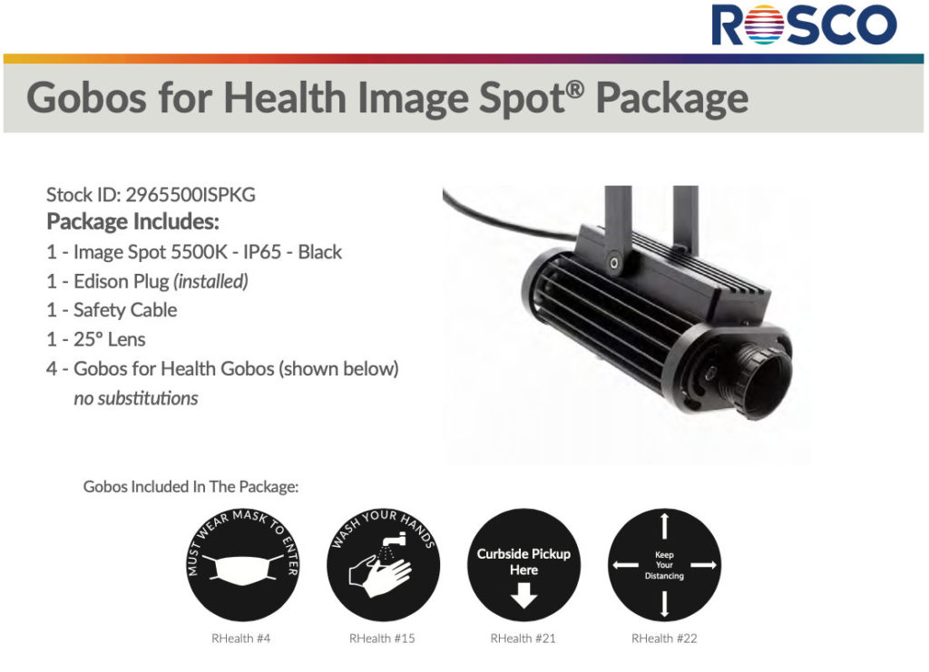 Rosco Gobos For Health Package